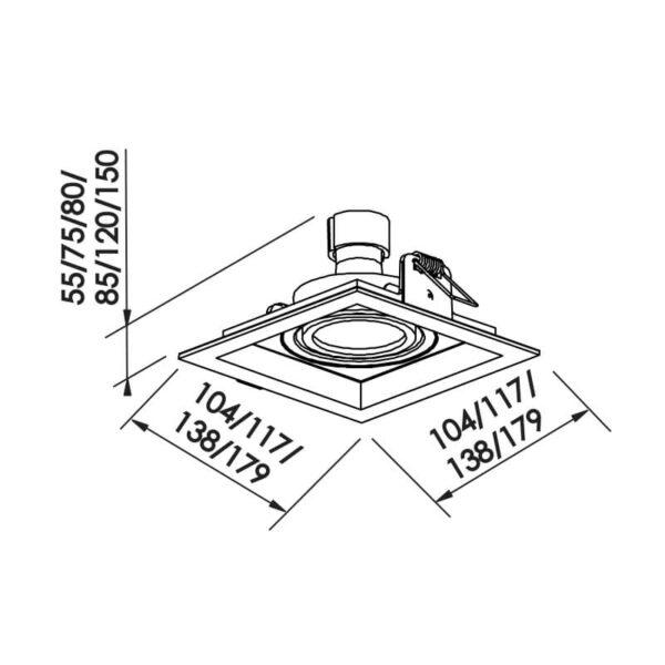 Desenho técnico embutido IN51341 Newline
