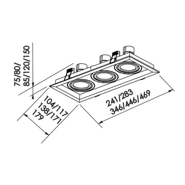 Desenho técnico embutido IN51353 Newline