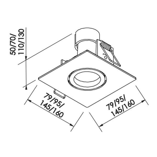 Desenho técnico embutido IN55531 Newline