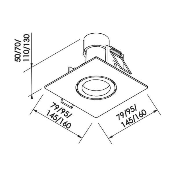 Desenho técnico embutido IN55561 Newline