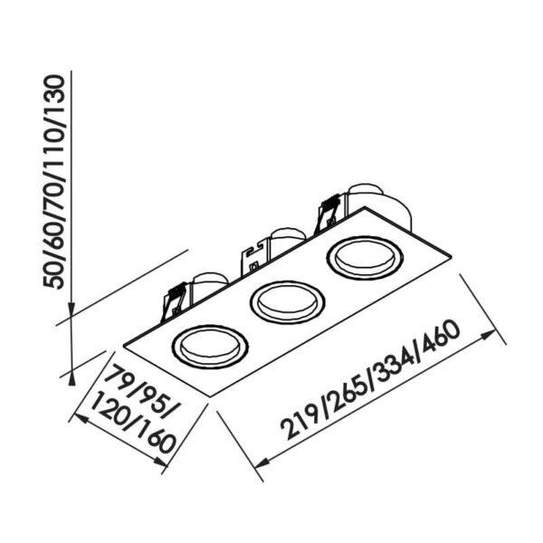 Desenho técnico embutido IN55563 Newline