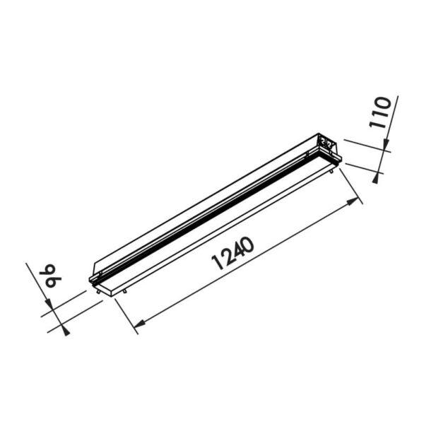Desenho técnico embutido IN60213 Newline