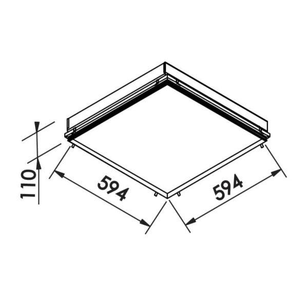 Desenho técnico embutido IN60216 Newline