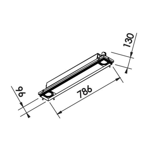 Desenho técnico embutido IN60233 Newline