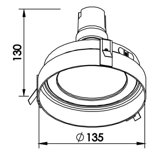 Desenho técnico embutido IN60561 Newline