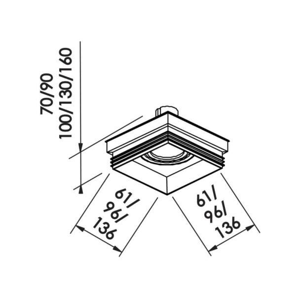 Desenho técnico embutido IN61341 Newline