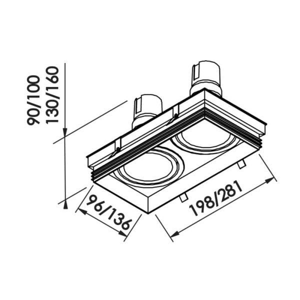 Desenho técnico embutido IN61352 Newline