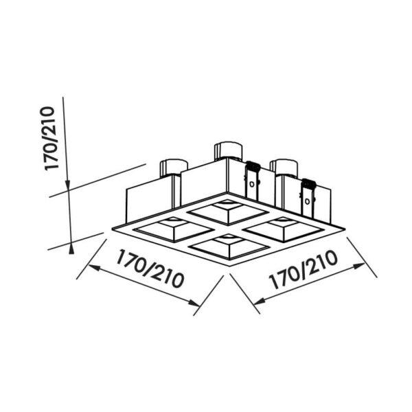 Desenho técnico embutido IN65042 Newline