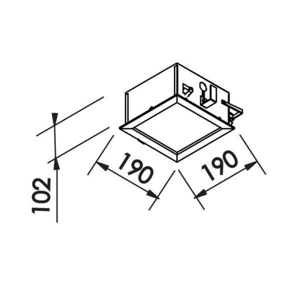 Desenho técnico embutido IN80002 Newline