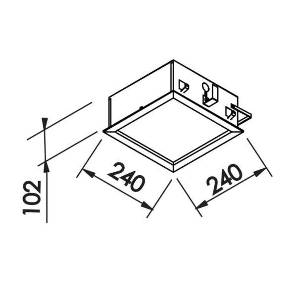 Desenho técnico embutido IN8001 Newline