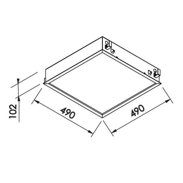 Desenho técnico embutido IN8003 Newline