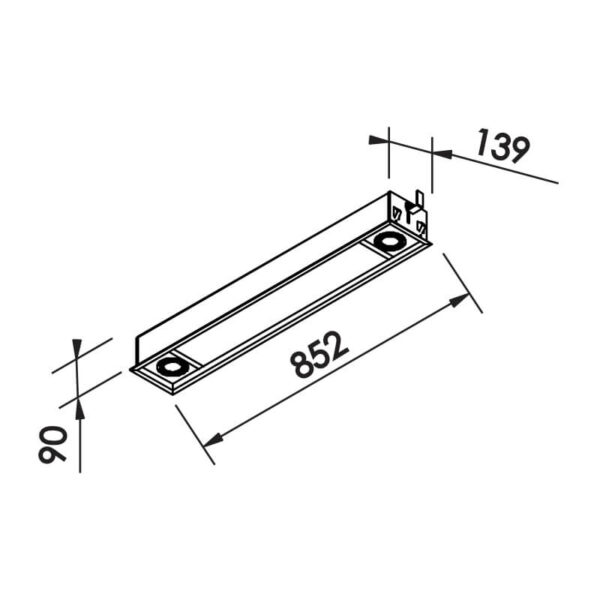 Desenho técnico embutido IN80238 Newline