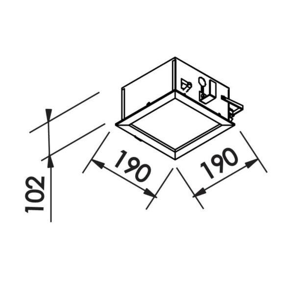 Desenho técnico embutido IN90002 Newline