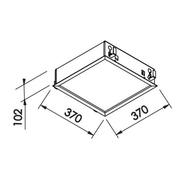 Desenho técnico embutido IN9002 Newline