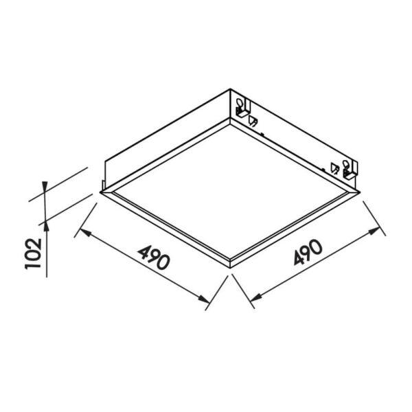 Desenho técnico embutido IN9003 Newline