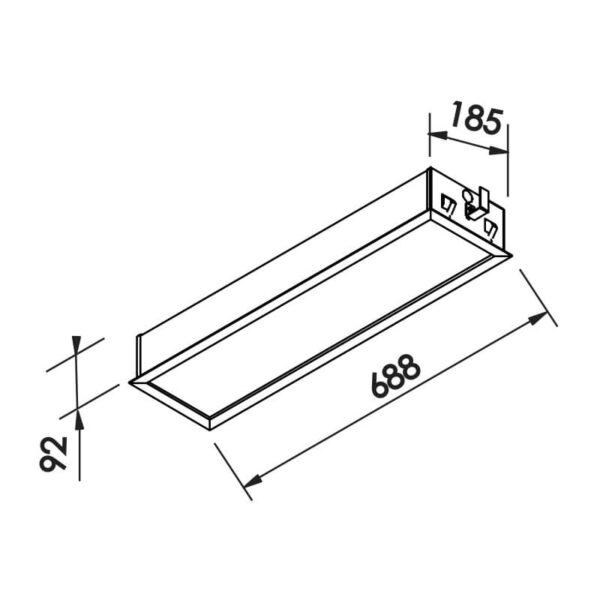 Desenho técnico embutido IN9007 Newline