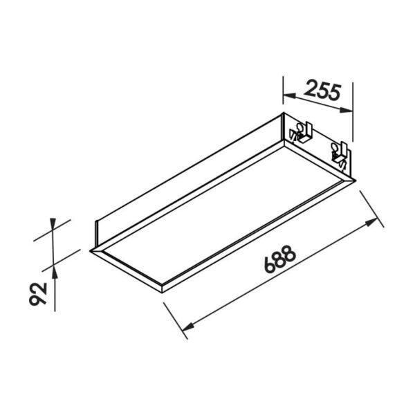 Desenho técnico embutido IN9008 Newline