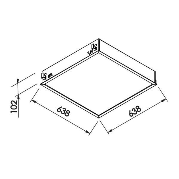 Desenho técnico embutido IN9012A Newline