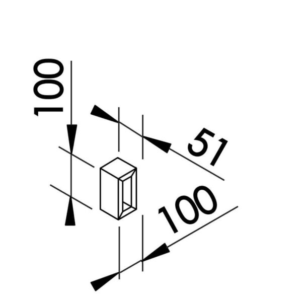 Desenho técnico arandela SN10120 Newline