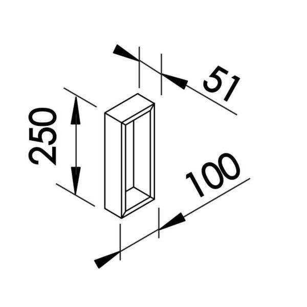 Desenho técnico arandela SN10123 Newline