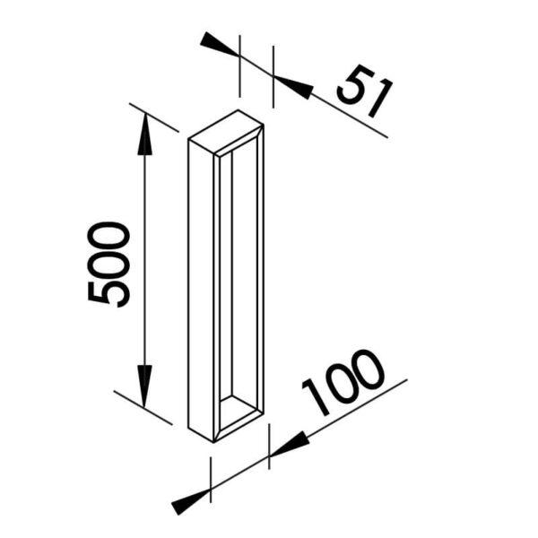 Desenho técnico arandela SN10125 Newline
