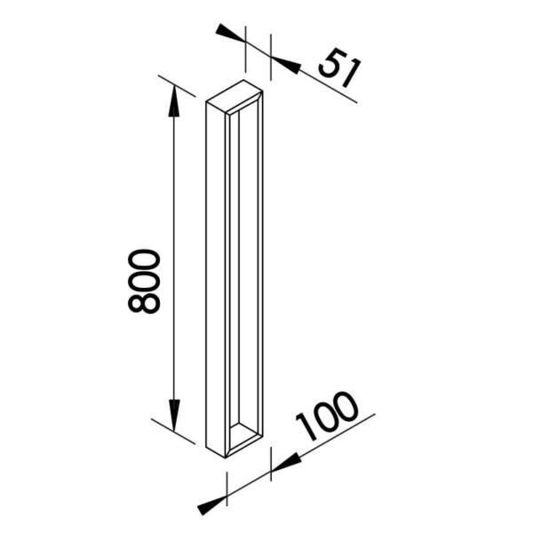 Desenho técnico arandela SN10126 Newline
