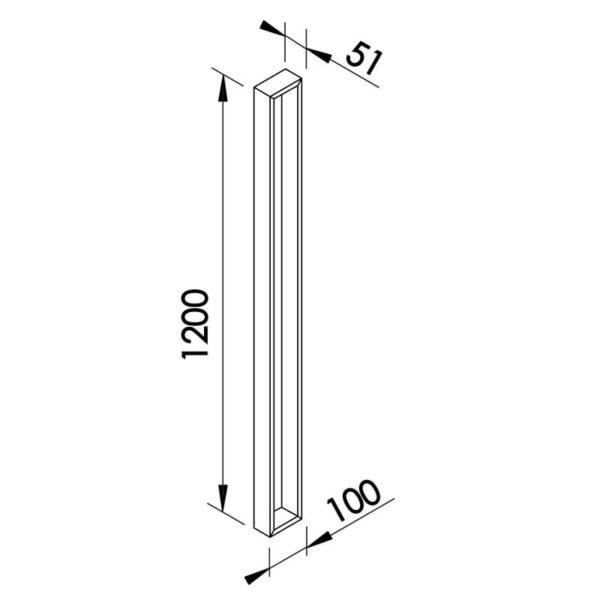 Desenho técnico arandela SN10129 Newline