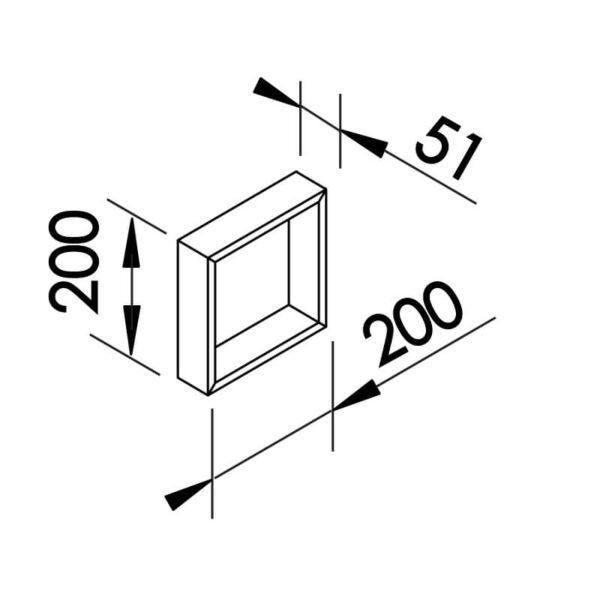 Desenho técnico arandela SN10142 Newline