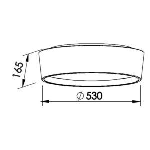 Plafon Circle E27 - Bivolt 127V / 220V E27 - 530 x 530 x