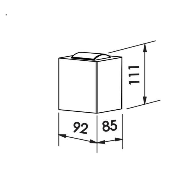 Desenho técnico arandela SNT024LED Newline