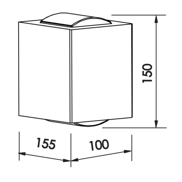 Desenho técnico arandela SNT026LED Newline